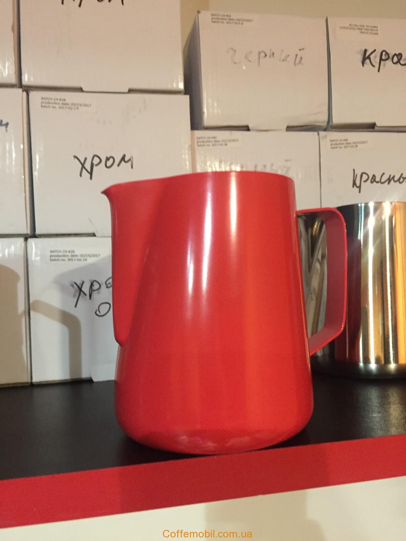 молочник на 600 мл красного цвета