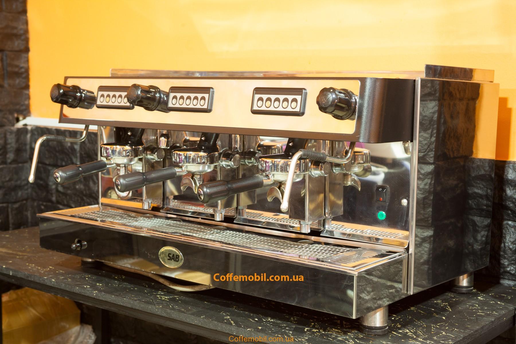 Профессиональная кофеварка Sab Jolly на 3 поста