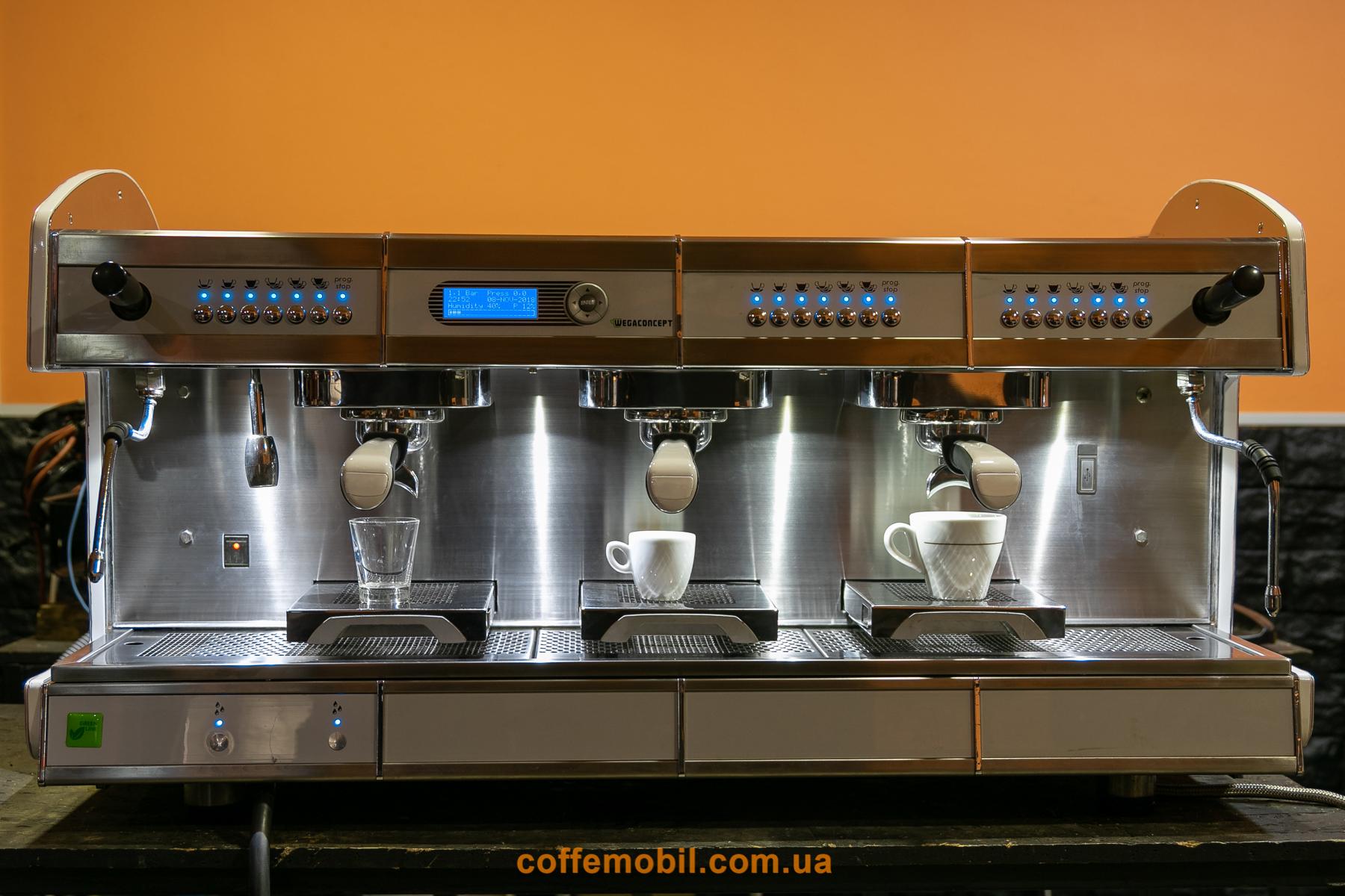 профессиональная мультибойлерная кофеварка wega Concept 3gr